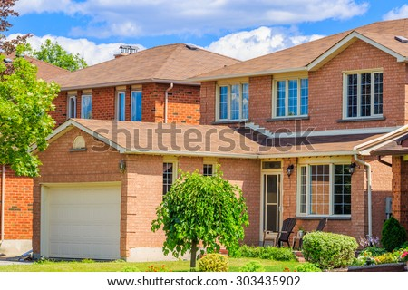 Luxury house  in the suburbs of Toronto - stock photo