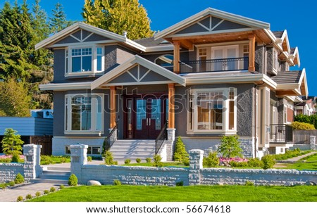Luxury house in Vancouver, Canada. - stock photo