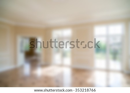 Luxury house interior theme creative abstract blur background with bokeh effect - stock photo