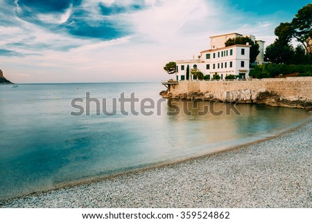 Luxury House on the French Riviera in Cassis en Provence near Marseille in the South of France - stock photo
