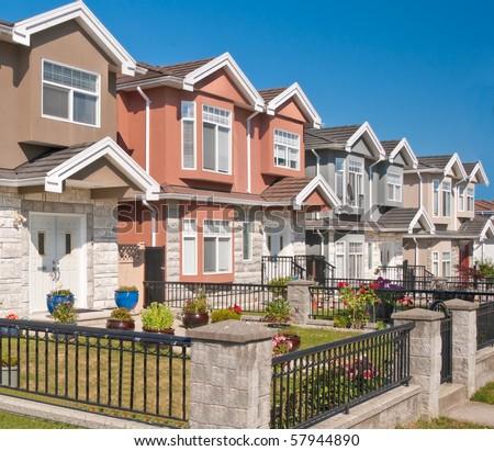 Luxury houses in Vancouver, Canada. - stock photo