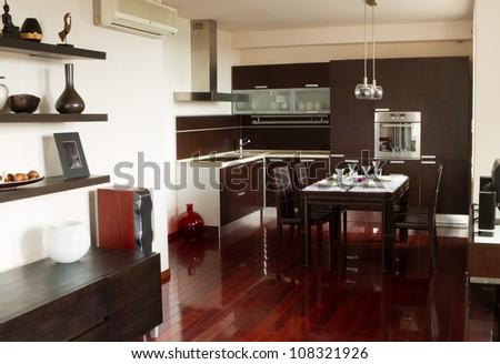 Luxury interior design in apartment - stock photo