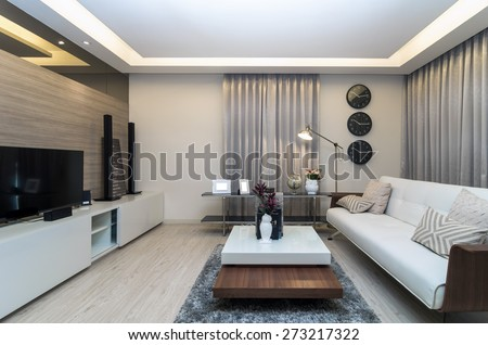 Luxury Interior living room - stock photo