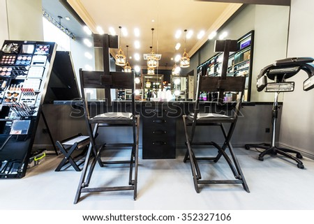 Luxury interior of beauty salon. - stock photo