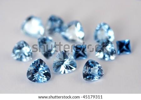 Luxury jewelry gems - stock photo