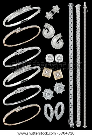 Luxury jewelry on a black background