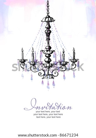 Luxury lamp template cover - stock photo