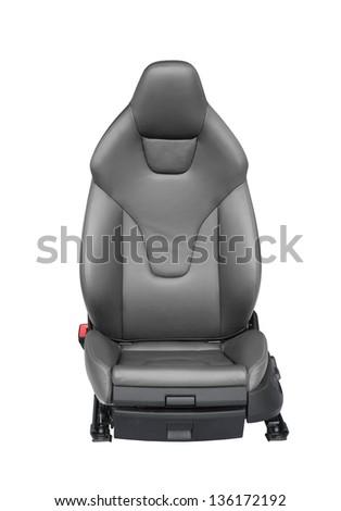 Luxury leather car seat isolated on white background - stock photo