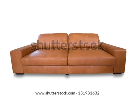 luxury leather sofa - stock photo