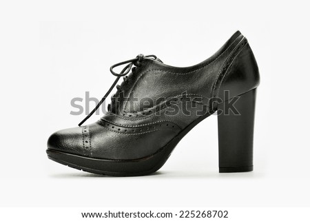 Luxury Leather Woman's Shoes - stock photo