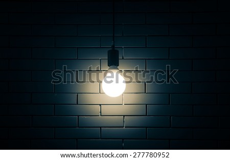 Luxury lighting decoration on brick wall background