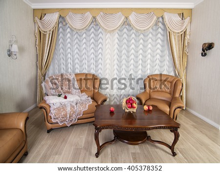 luxury living room interior  - stock photo