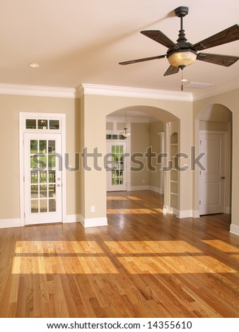 Luxury Living Room with Arched Opening - stock photo