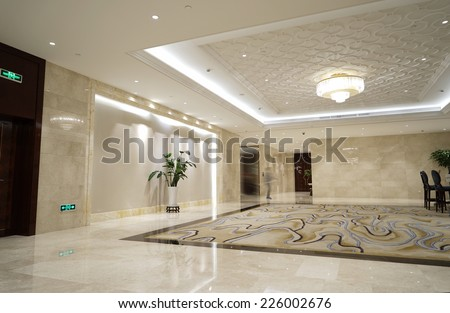 Luxury lobby - stock photo