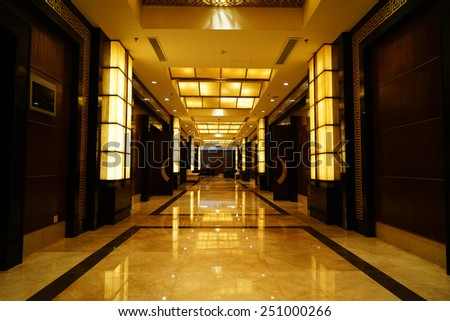 Luxury lobby interior. - stock photo