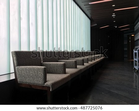 Luxury lobby interior.