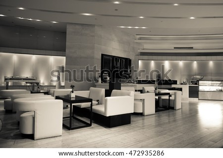 luxury lounge bar interior.