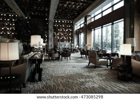 Luxury lounge bar interior stockfoto jetzt bearbeiten