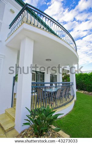 Luxury mansion architectural  feature - stock photo