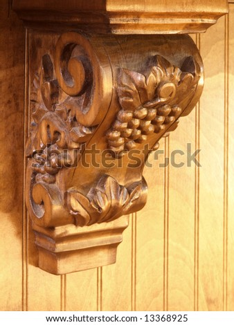 Luxury Model Home Ornate Scroll Counter support - stock photo