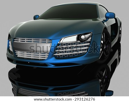 Luxury model sport car. Driving vehicle transportation concept. - stock photo