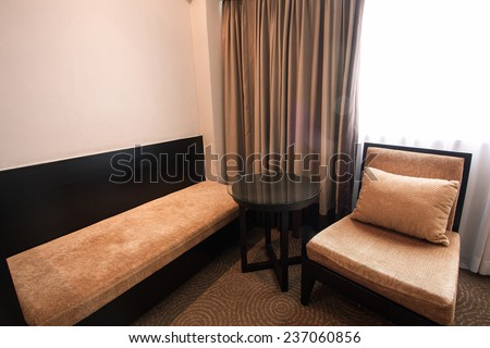 luxury modern bedroom. Modern style in the hotel. Relax room of the people when leave in the hotel