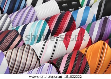 Luxury necktie - stock photo
