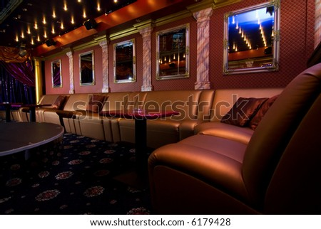 Luxury night club interior - stock photo
