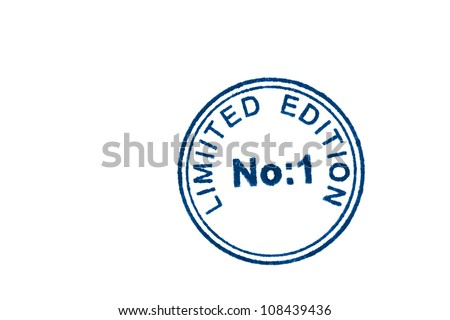 Luxury product and stamp limited edition on white - stock photo