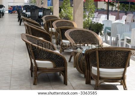 luxury restaurant - stock photo