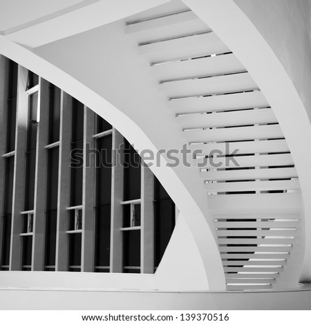 Luxury room with marble stairs. - stock photo