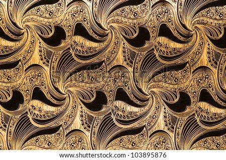 Luxury seamless golden wallpaper background. - stock photo