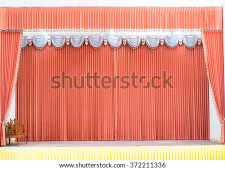 luxury stage curtains. - stock photo