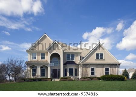 Luxury Suburban House - stock photo