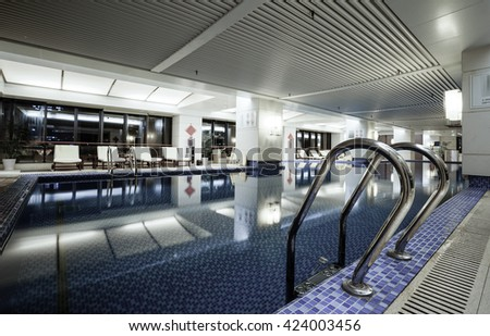 Luxury swimming pool,part of luxury hotel.