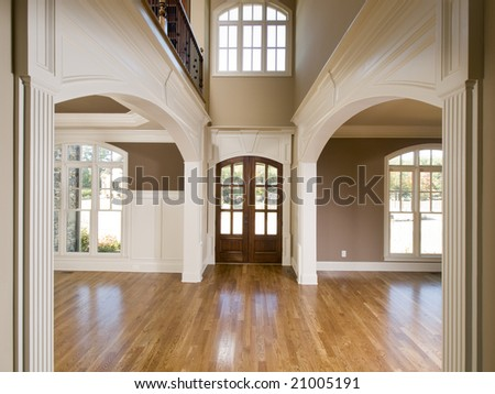 Luxury Symmetrical Arch Entrance Horizontal view - stock photo