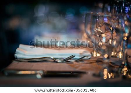 Luxury Table.  - stock photo