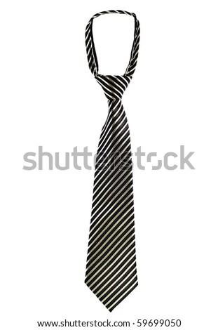 Luxury tie  isolated on white background - stock photo