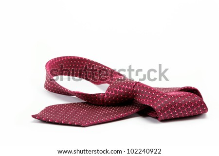 Luxury tie on white background - stock photo