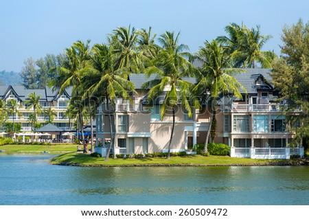 Luxury tropical resort villa - stock photo