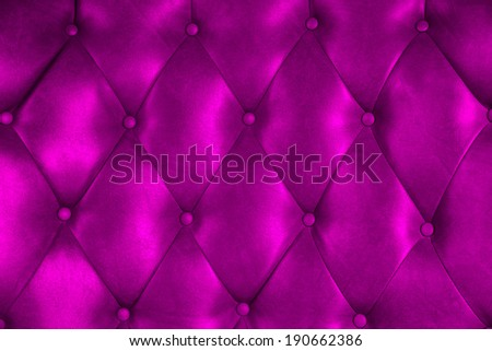 Luxury upholstery leather button chair texture in purple
