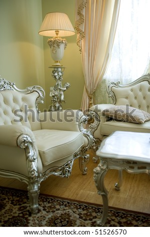 Luxury Victorian Styled Interior - stock photo