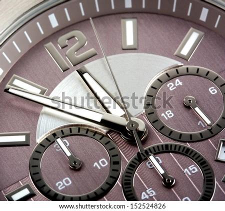 luxury watch chronometer background  - stock photo