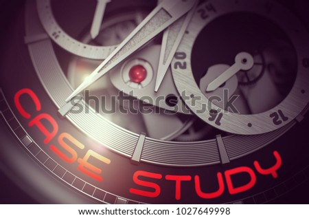 Luxury Watch Case Study On Face Stock Illustration 1027649998