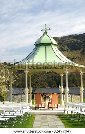 Luxury Wedding outdoor  venue - stock photo
