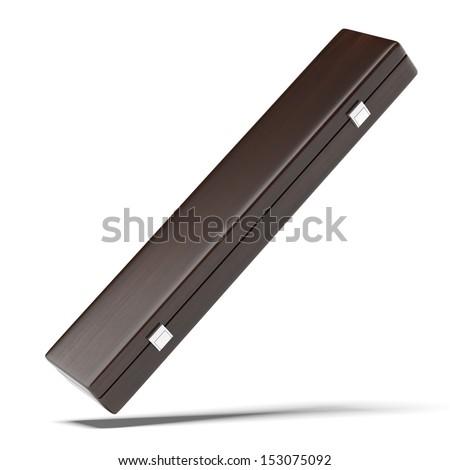 luxury wooden case - stock photo