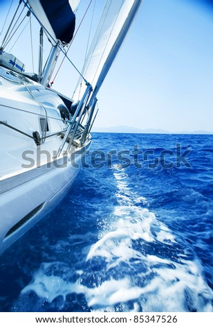 Luxury Yacht. Tourism. Lifestyle - stock photo