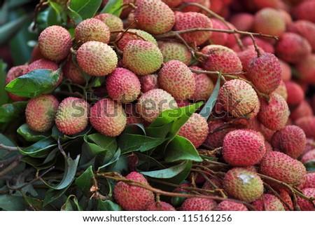 Lychee fruits - stock photo
