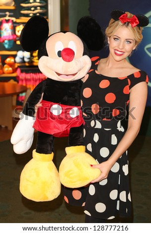 Lydia Bright aka Lydia Rose Bright at Volunt-ears with Mickey Mouse at Disney Store for Red Nose day, London. 14/02/2013 Picture by: Henry Harris / Featureflash - stock photo
