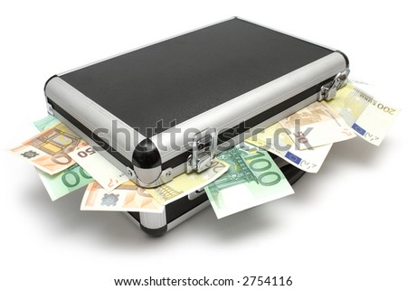Lying Money Case - stock photo